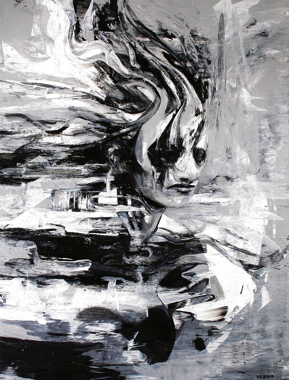 Feminine Frustration      Latex on Wood     18 x 24