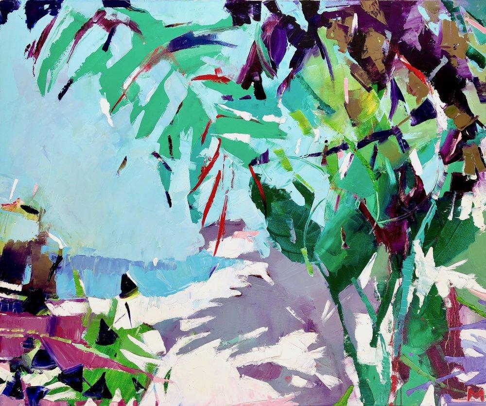 Marta Kisiliczyk   Secret Beach  Oil 100 x 120