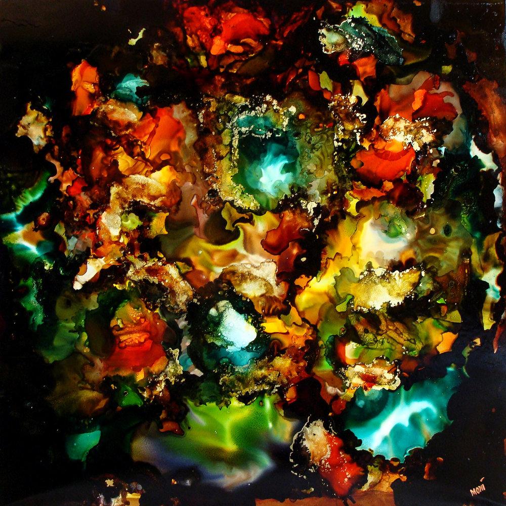 Greg Moni  Nebula Rami Mixed Media 24 x 24