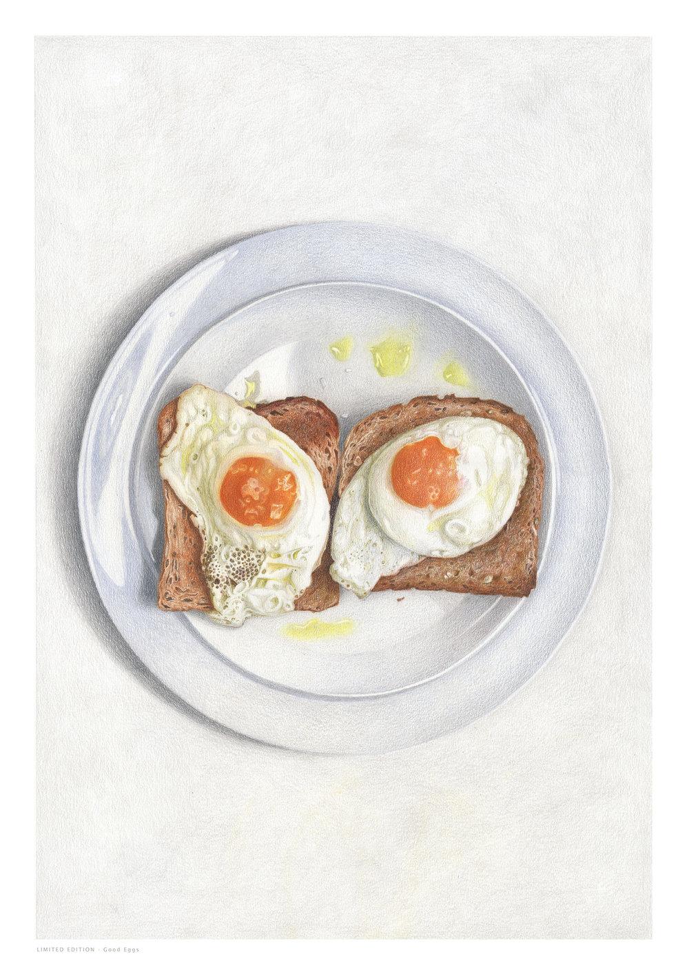 Good eggs - Colored Pencil60 x 40