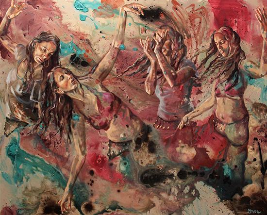 "DANCE PROGRESSION | OIL ON PANEL | 48X60"""