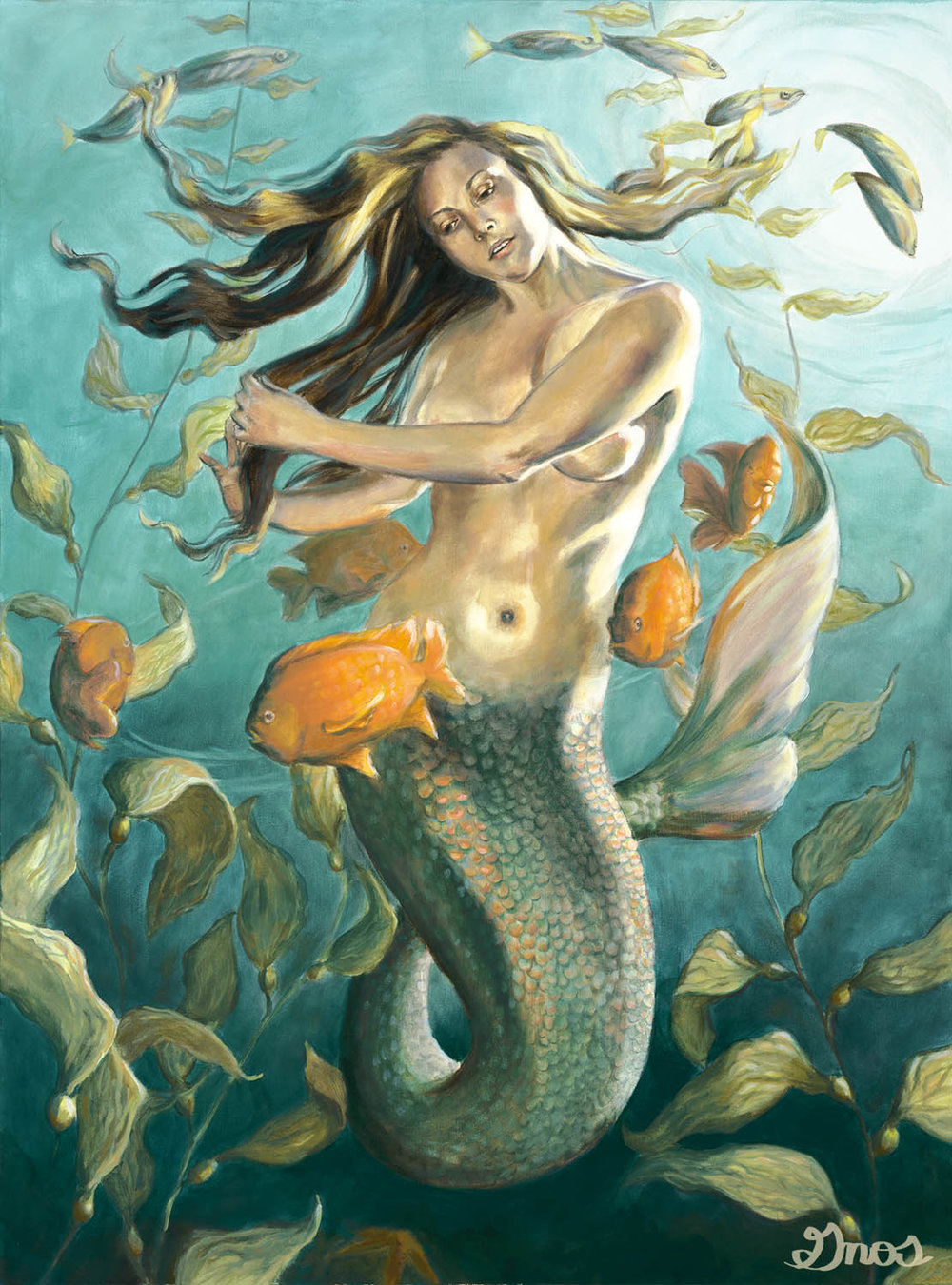 QUEEN OF KELP | OIL ON CANVAS | 40X30""