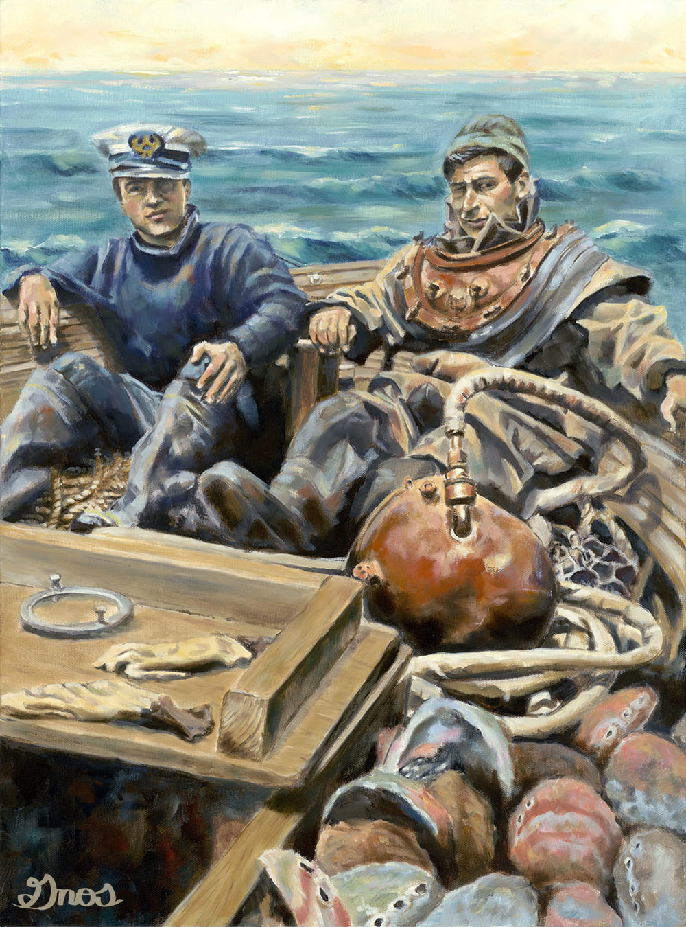 MEN OF THE SEA | OIL ON CANVAS | 18X24""
