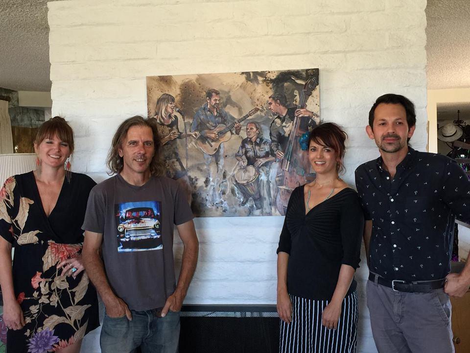 Musicians Allison Rice, Ari Paluski, Myself & Alán Laureano