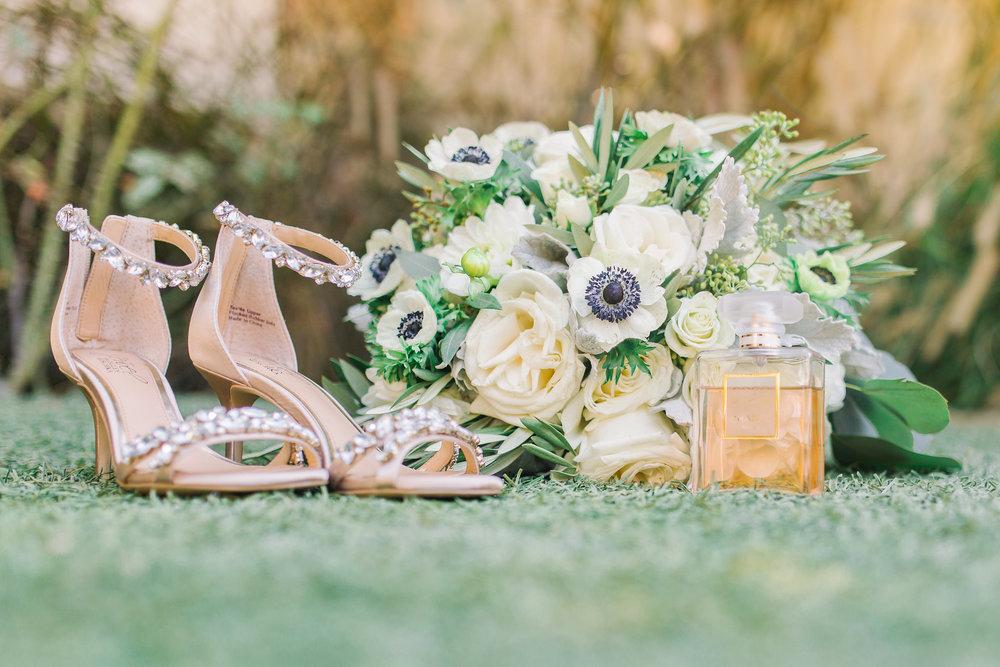San Clemente, San clemente beach wedding, the casino san clemente, badgley mischka shoes, bridal bouquet