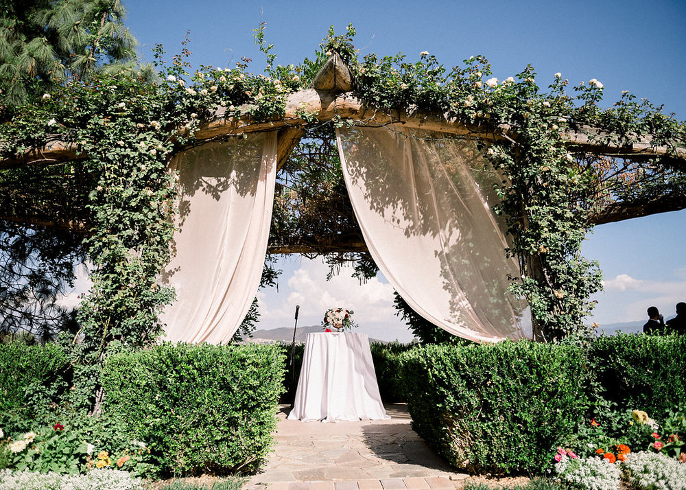 Rose Garden Arbor South Coast Winery Temecula Wedding