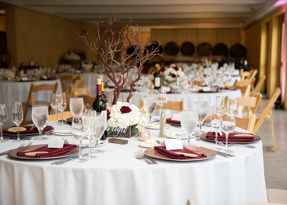 Manzanita Tree Centerpiece South Coast Winery Wedding Temecula