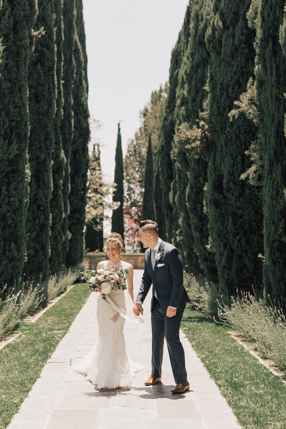 Greystone Mansion, Greystone Mansion Beverly Hills, Beverly Hills Wedding, California Estate Wedding, couple first look wedding photo
