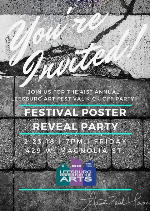 Join us for the Leesburg Art Festival Poster Reveal Party and Collector's Circle kick off!  Pledge dollars towards buying art at the Leesburg Art Festival.  Sign up today!