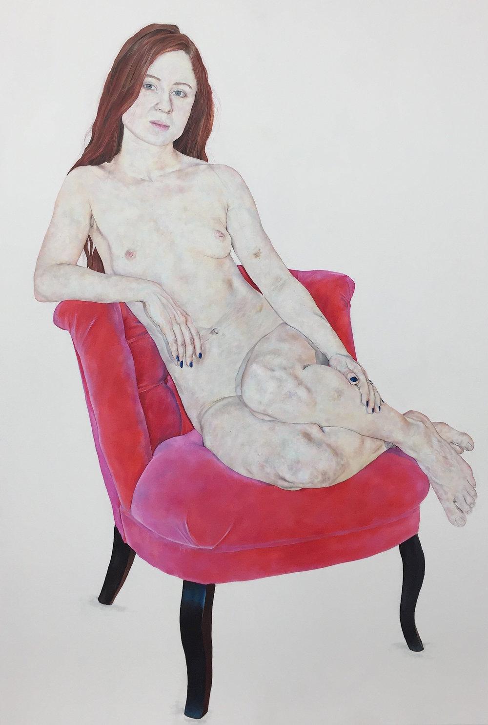 Venus on Pink Chair