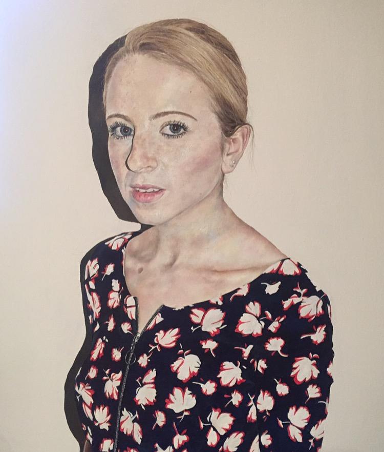 Self Portrait in Flower Dress