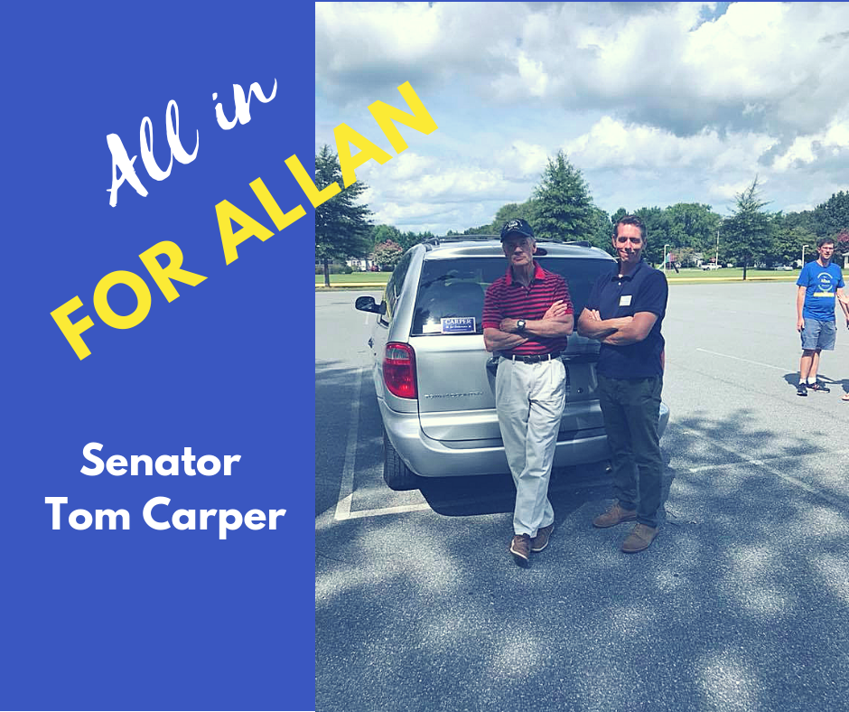 I'm proud to endorse Don Allan. As a 2nd generation carpenter, husband, father, and grandson of a Chrysler Assembly plant worker, Don understands the importance of an honest day's work and how we can address the challenges facing working families in Delaware. Don and I share a strong commitment to fighting for a cleaner, safer environment for future generations and greater economic opportunities for Sussex County, and for all Delawareans. Don is the right choice for Delaware's 36th District on November 6.
