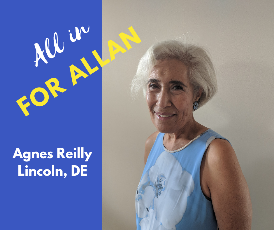 I am an enthusiastic supporter of Don Allan's candidacy for Delaware's 36th district. I have known Don ever since moving to Delaware and know that he will make an outstanding representative on our behalf. I especially value that Don communicates in specifics and not generalities when he discusses issues. His proposals for clean water and more equitable funding for our school district make a lot of sense to me. Don is a lifelong resident of Delaware who comes from a working class environment and is sincerely dedicated to promoting a better Delaware for all its residents.