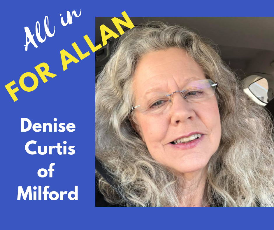 I'm voting for Don Allan because we don't need any more career politicians at Legislative Hall. Don is a family man, a middle class American who knows what it's like to work hard, using his hands to shape his future. When elected, he will think about us, his constituents, and make the right choices to protect Delaware!