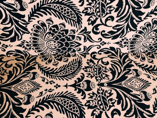 A lovely black and white damask pattern.