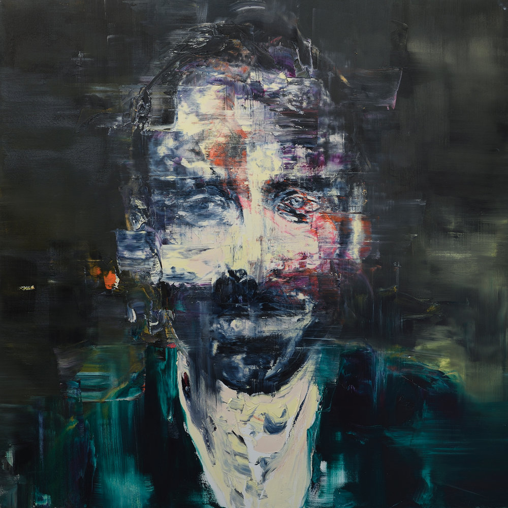 Self-portrait , 2017 Oil on canvas 72 x 72 inches (183 x 183 cm)