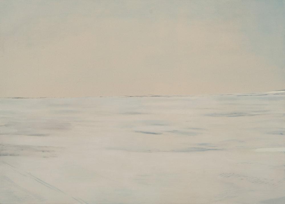 Paysage nordique 5 , 2016. Huile et fusain sur toile, 60 x 84 pouces