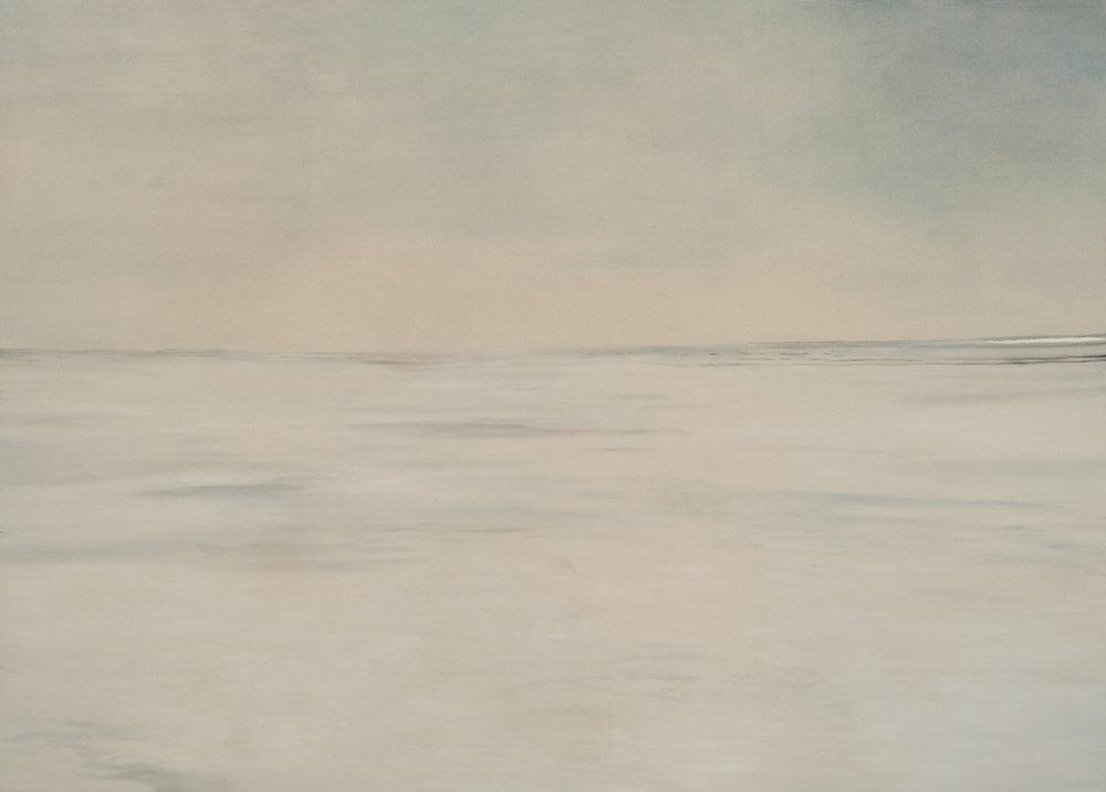 Paysage nordique 6 , 2016. Huile et fusain sur toile, 60 x 84 pouces