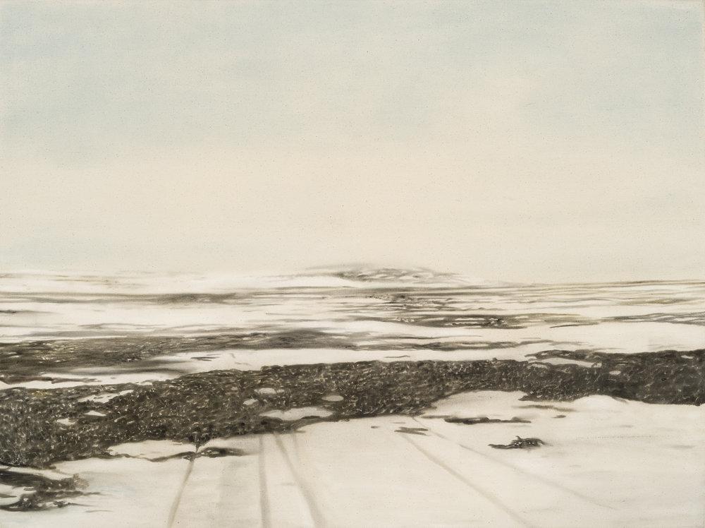 Paysage nordique 11 , 2016. Huile et fusain sur toile, 36 x 48 pouces