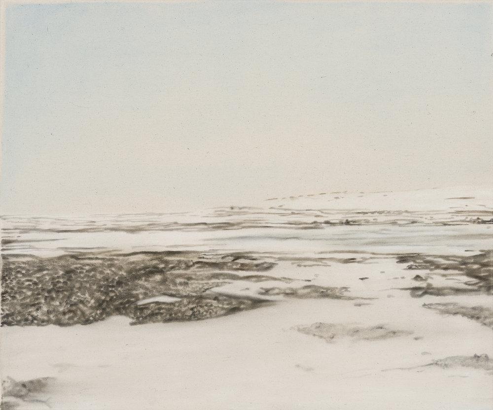 Paysage nordique 20 , 2016. Huile et fusain sur toile, 20 x 24 pouces