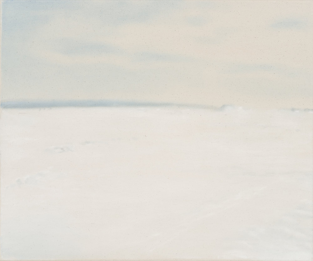 Paysage nordique 22 , 2016. Huile et fusain sur toile, 20 x 24 pouces