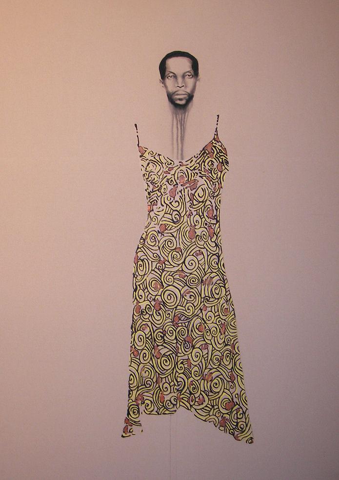 Abdullah Mohammed , 2005. Huile et fusain sur toile.