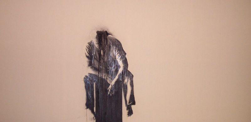 Jumper , 2002. Huile sur toile.