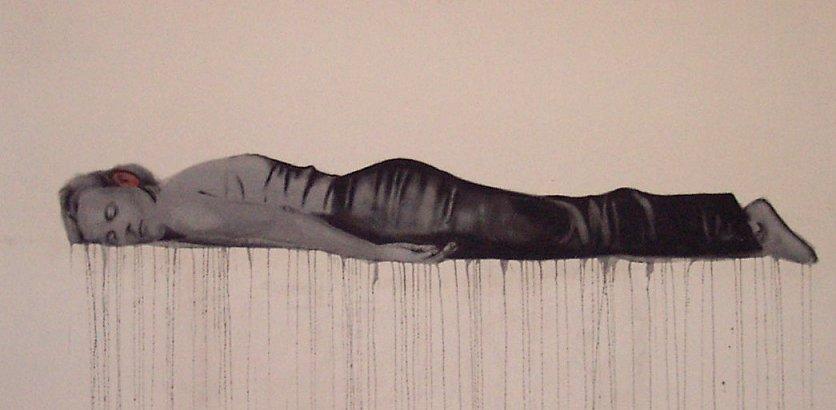 Silence , 2003. Huile sur toile.