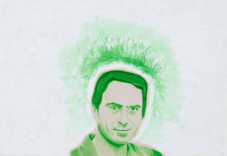 Bundy No. 1 ,2014.Huile et fusain, 24 x 36 pouces.