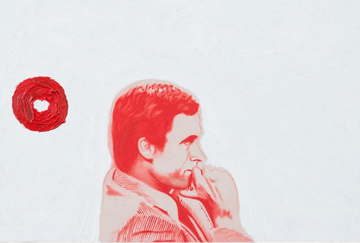 Bundy No. 2 ,2014.Huile et fusain,24 x 36 pouces.