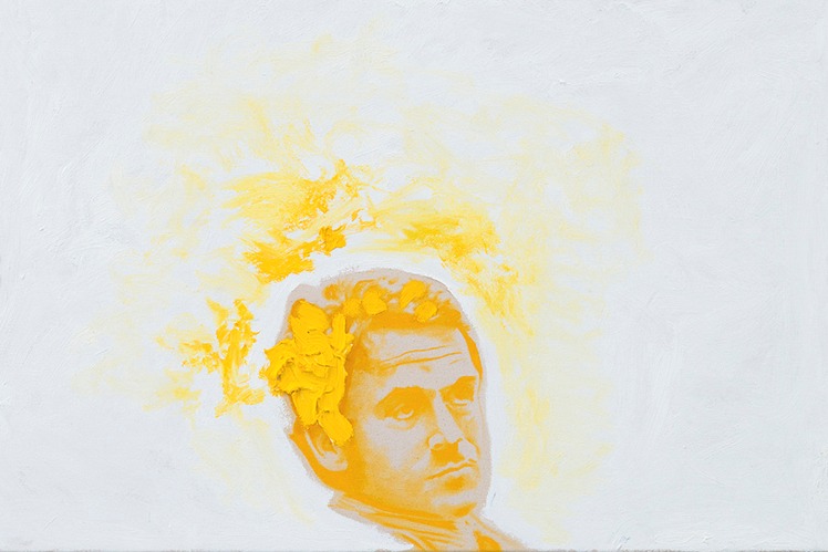 Bundy No.3 ,2014. Huile et fusain, 24 x 36 pouces.