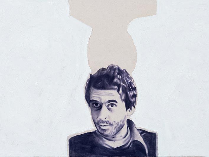 Bundy No. 5 ,2014.Huile et fusain, 24 x 36 pouces.