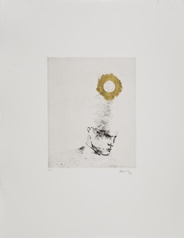 Sans titre (MAC rond dore) , 2004.
