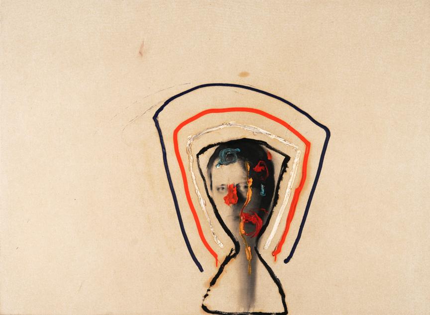 Autoportrait Echos, 2008. Huile et fusain.
