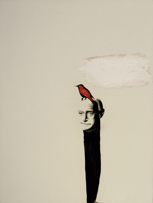 Portrait Yves , 2002. Huile et fusain.