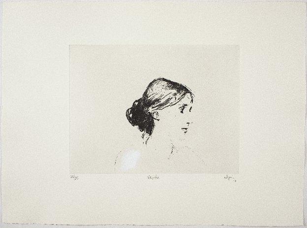 Virginia Woolf,  2017. Eau-forte rehaussée à l'acrylique. Édition de 25.