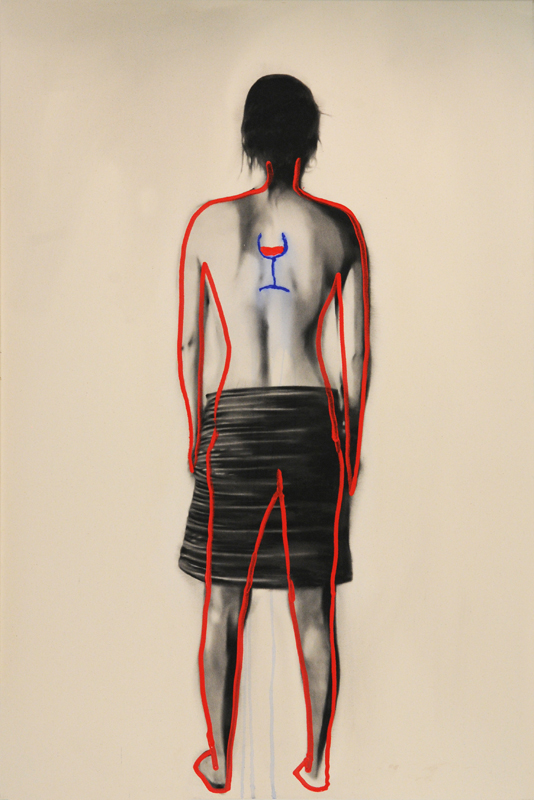 Branded woman (fragile) , 2011. 183 x 122 cm.