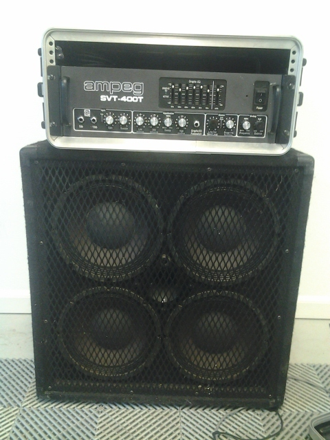 AV For You Is Now Renting A 400 Watt Ampeg SVT 400T Bass Amp And A 700 Watt  Peavey 410 TX Cabinet.