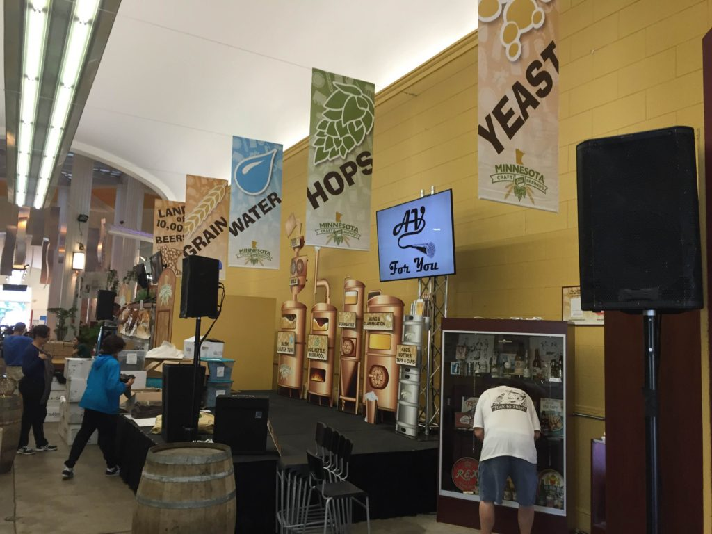 Picture, 2016 MN State Fair AV for You set-up at the Minnesota Craft Brewer's Guild