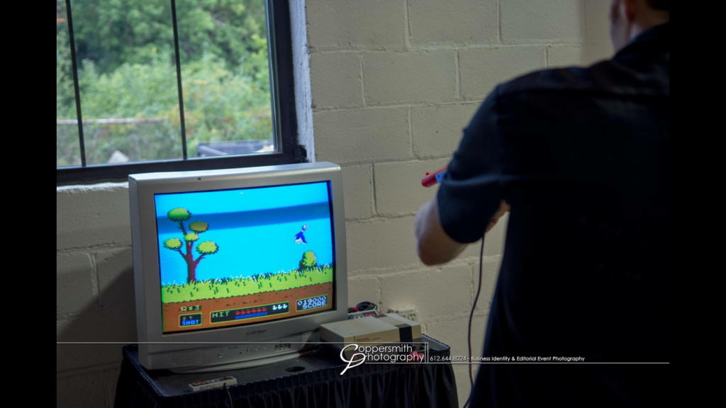 Picture of retro gaming Duck Hunt