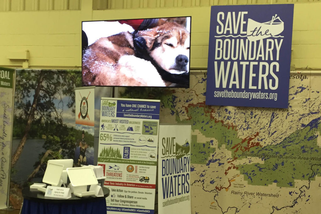 Picture of AV for You equipment rental for the Save the Boundary Waters booth at the 2016 Minnesota State Fair