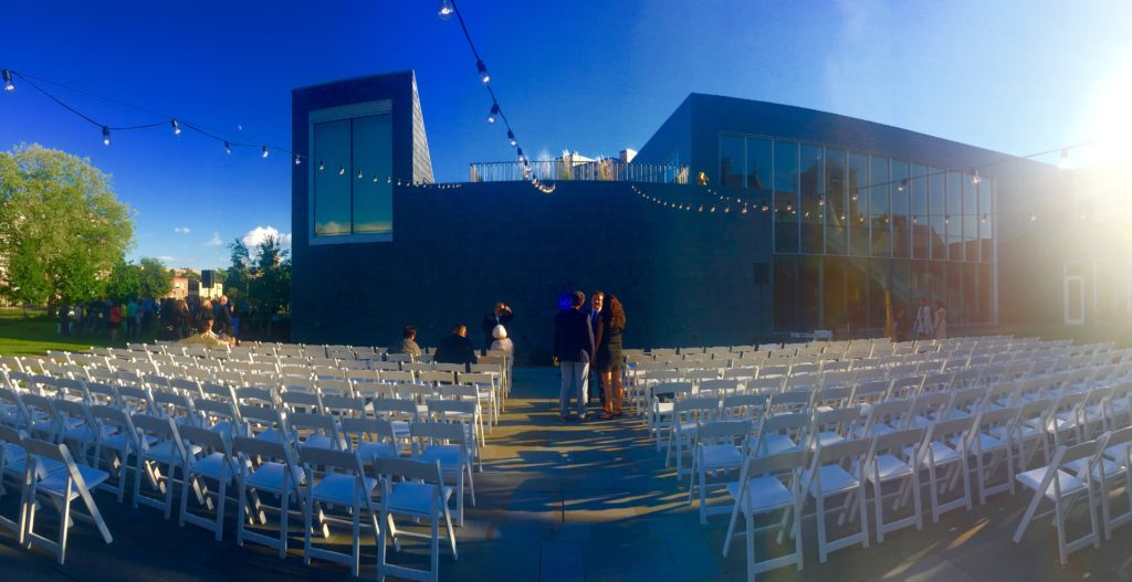 Picture of outdoor wedding at the American Swedish Institute in Minneapolis