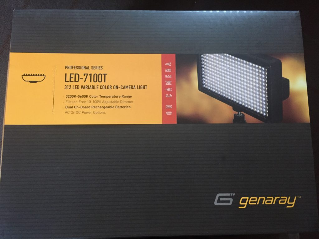 Picture of the Genaray LED-7100T now available for rent from AV for You