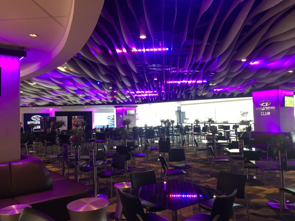 Picture of on the Hyundai Club room in the US bank stadium