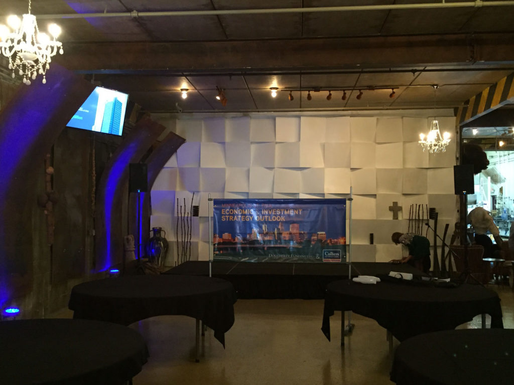 Picture of AV for You audio and staging rental Warehouse Winery