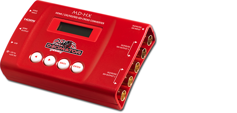 Picture of Decimator Design's MD-HX HDMI/SD Cross Converter added to AV for You Inventory