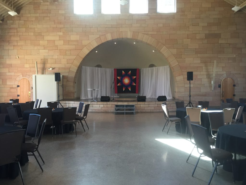 Picture of AV for You set-up at the Harriet Island Pavilion