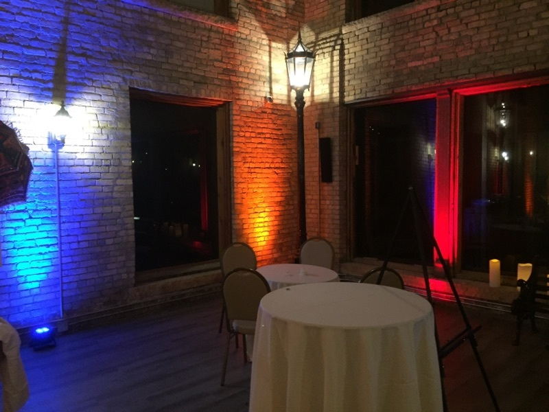 Picture of AV for You Fountain Room Wedding Lighting Decor