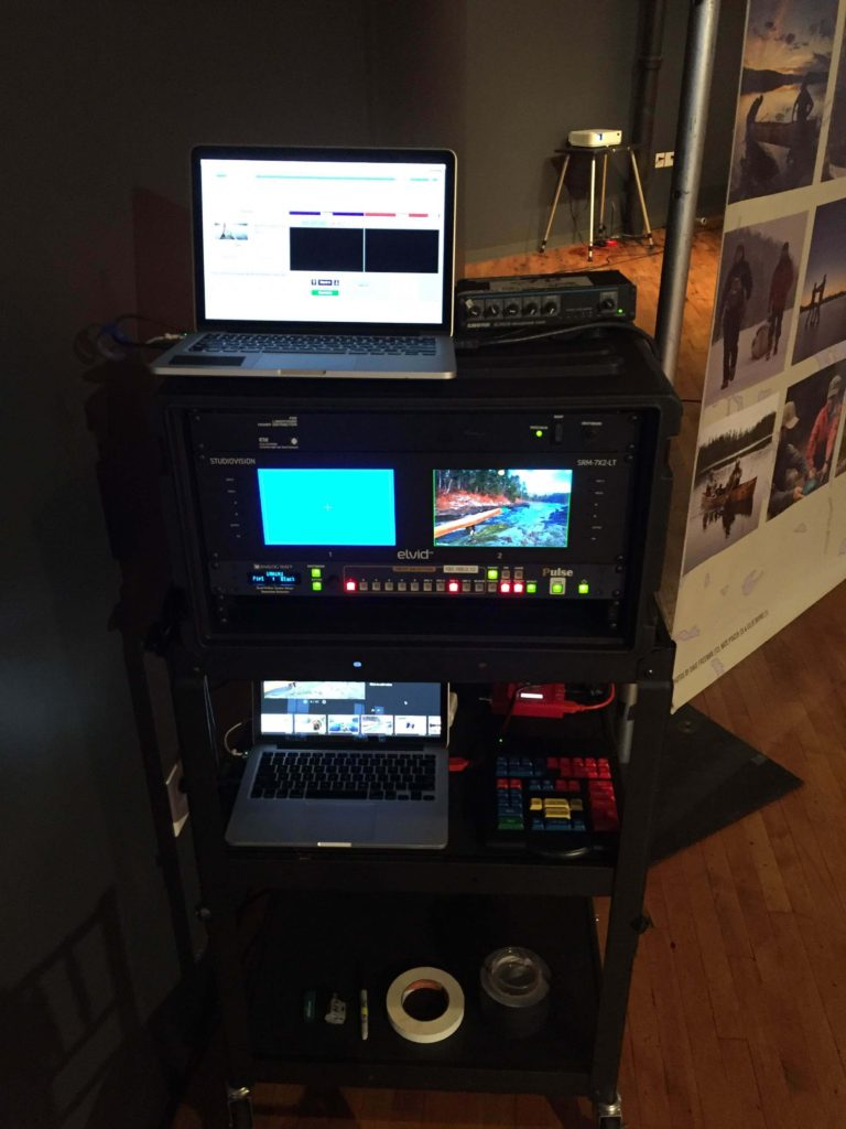 Picture of AV for You tech cart for A Year in the Wilderness, a Save the Boundary Waters Event at Solar Arts Building