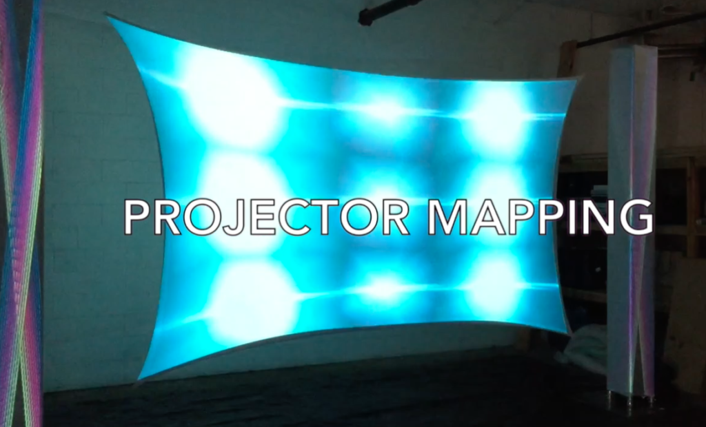 Projector Mapped Stage Backdrop — Audio Visual Equipment